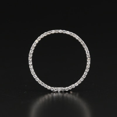14K Diamond Circle Pendant
