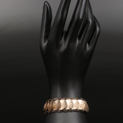 Mexican Brass Coin Bracelet