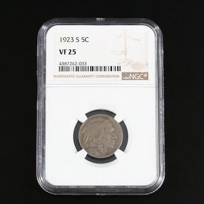 Key Date NGC Graded VF25 1923-S Buffalo Nickel