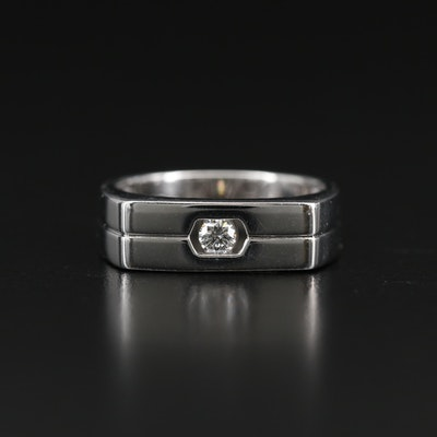 14K 0.15 CT Diamond Solitaire Ring