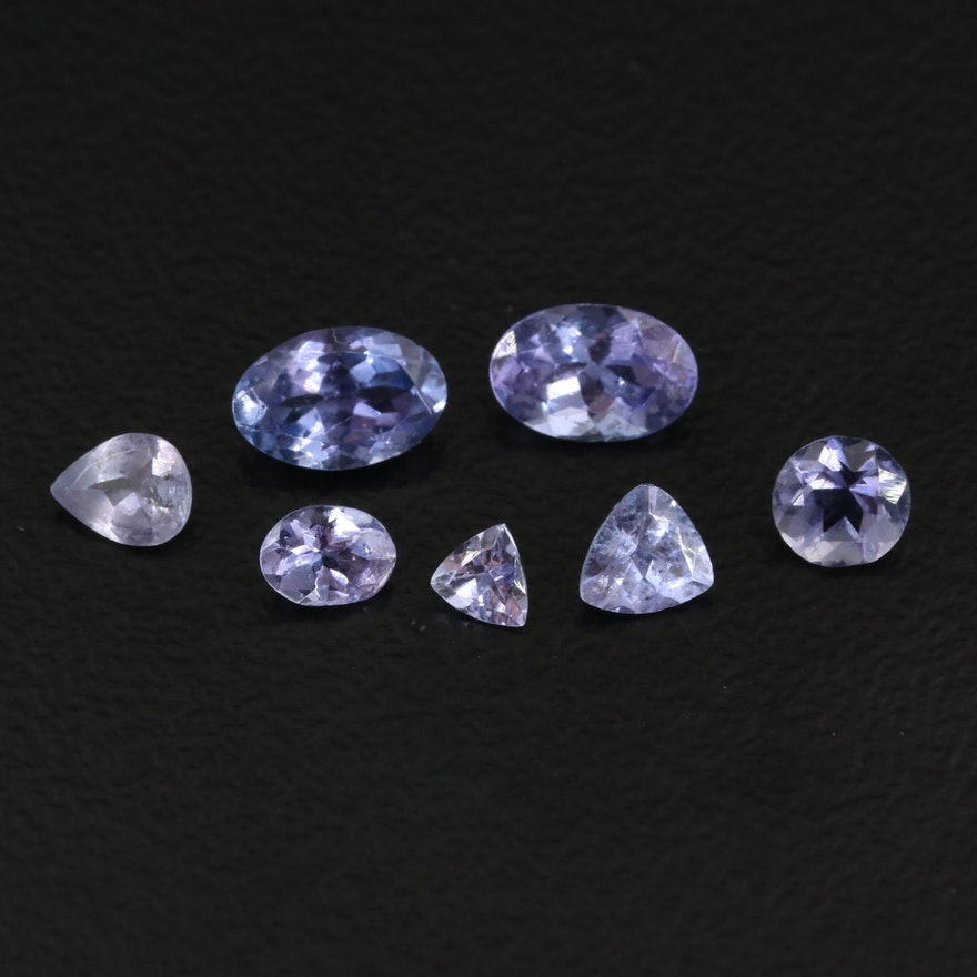 Loose 1.77 CTW Mixed Faceted Tanzanites