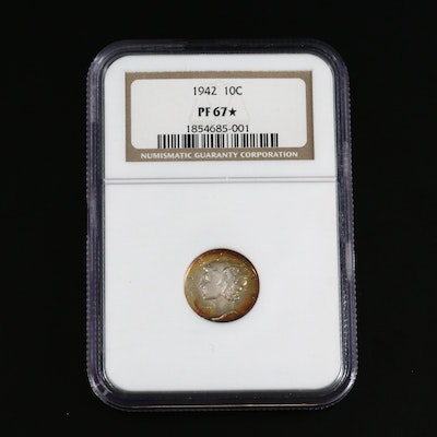NGC Graded PF67+ 1942 Mercury Silver Dime