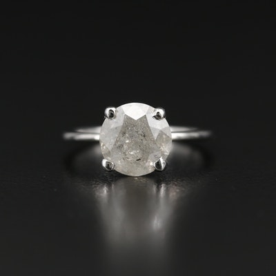 Platinum and 14K 2.90 CT Diamond Ring