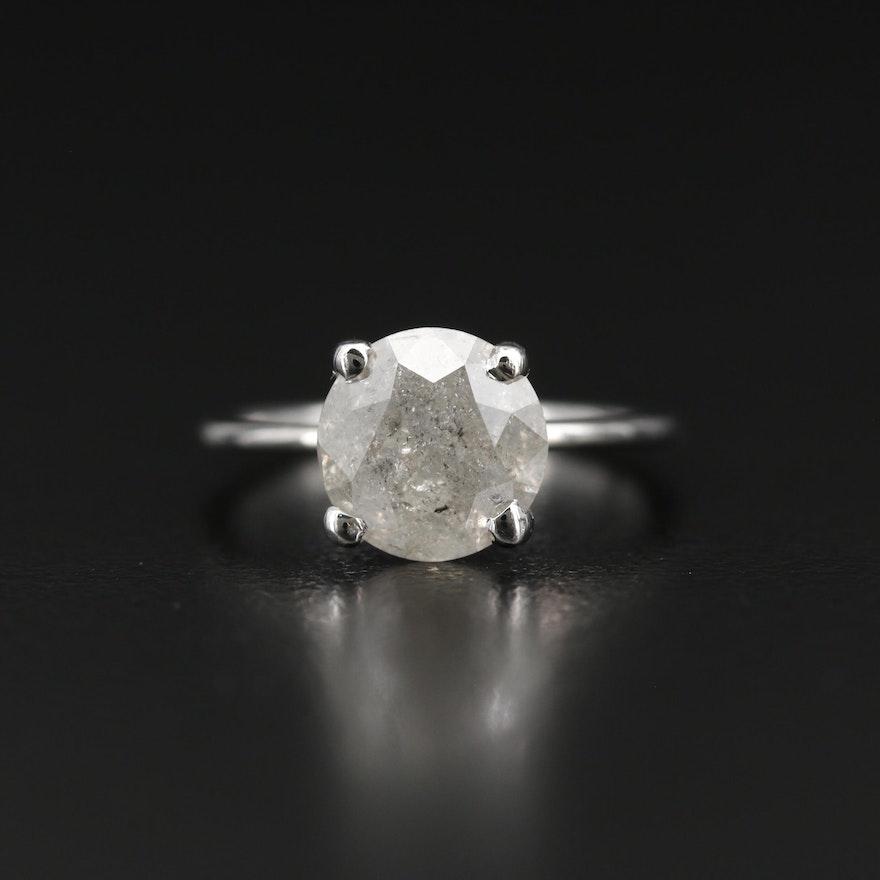 Platinum and 14K 2.90 CT Diamond Ring