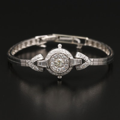 Vintage 14K 1.45 CTW Diamond Bracelet