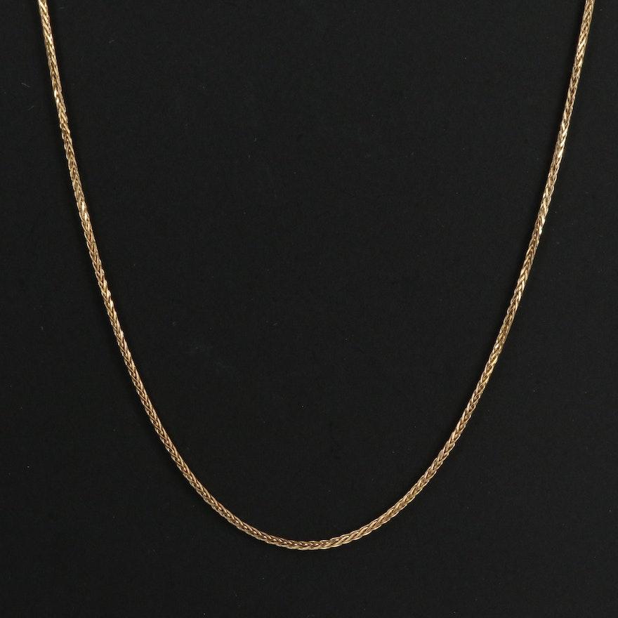 14K Wheat Link Chain