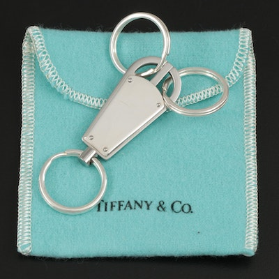 Tiffany & Co. Sterling Silver Key Ring with Pouch