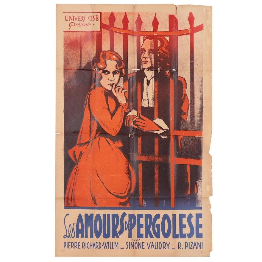 "Lithograph Movie Poster for ""Les Amours de Pergolese"", Circa 1933"