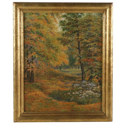 "Oil Painting ""Autumn in Edgewood"", 1929"
