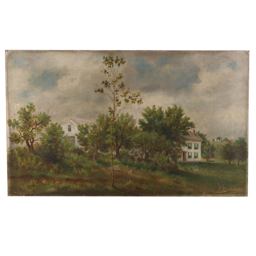 Oil Painting of Rural Home