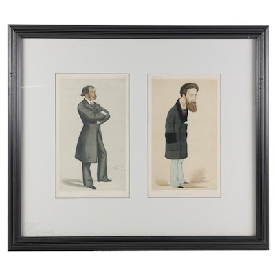 "Vanity Fair ""Men of the Day"" Series Chromolithographs, 1882, 1876"