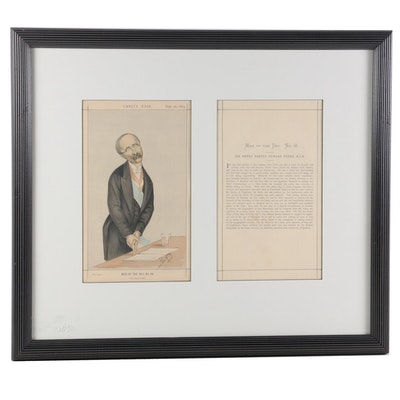 "Vanity Fair ""Men of the Day"" Series Chromolithograph ""Sir Henry Frere"", 1873"