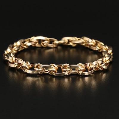Milor 14K Oval Link Bracelet