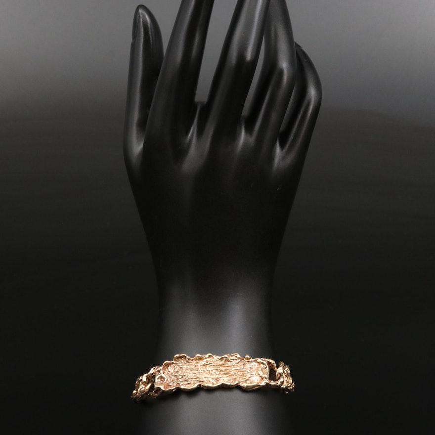 Biomorphic 14K Bracelet with Mariner Links