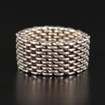 "Tiffany & Co. ""Somerset"" Sterling Mesh Ring"