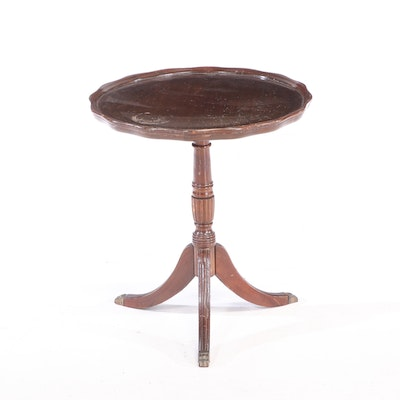 Classical Style Mahogany Tripod Side Table, circa 1940