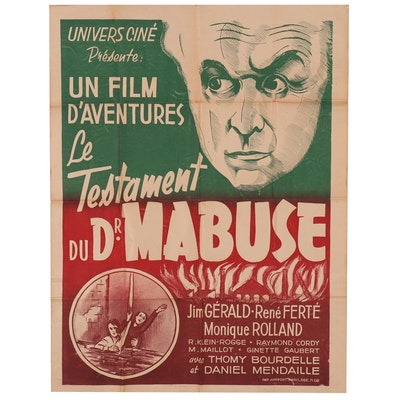 "Lithograph Movie Poster for ""Le Testament du Dr. Mabuse"", Circa 1933"