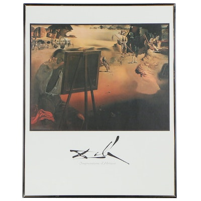 """Offset Lithograph after Salvator Dali """"Impressions d'Afrique"""", Late 20th Century"""