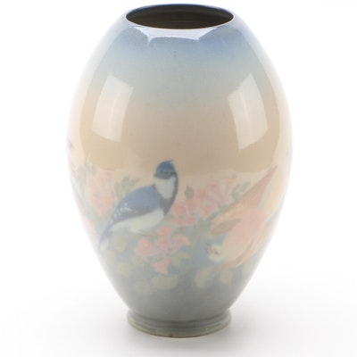 Edward Timothy Hurley for Rookwood Pottery Wheel Turned Vase, 1946