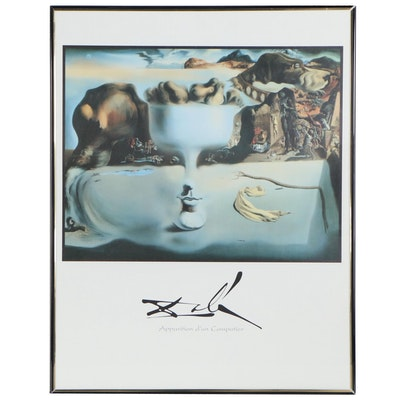"Offset Lithograph after Salvator Dali ""Apparition d'un Compotier"", 20th Century"