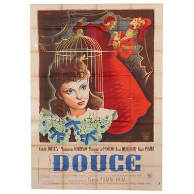 "Roger ""Rojac"" Jaqueir Lithograph Movie Poster for ""Douce"", Circa 1943"