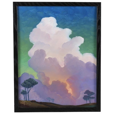William Hawkins Oil Painting of Majestic Clouds