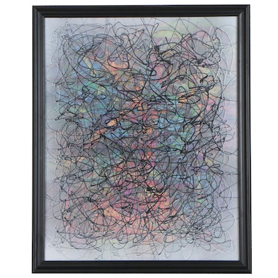 "Jason Michael Durham Abstract Mixed Media Painting ""Possibilities"""