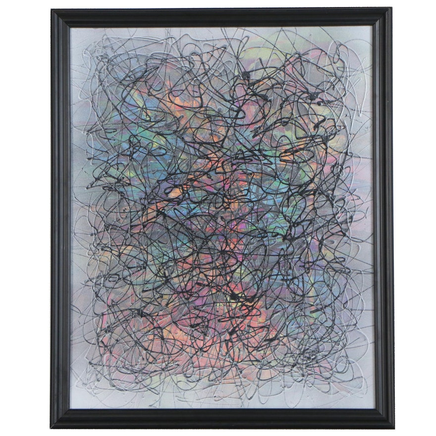 """Jason Michael Durham Abstract Mixed Media Painting """"Possibilities"""""""