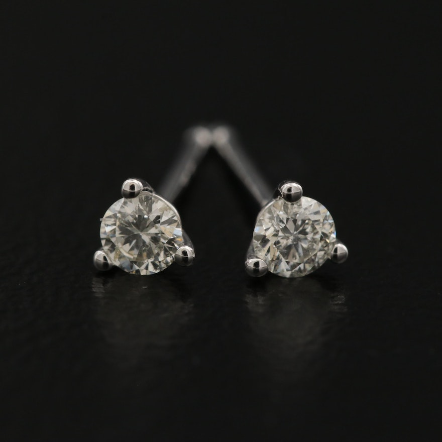 14K 0.16 CTW Diamond Martini Set Stud Earrings