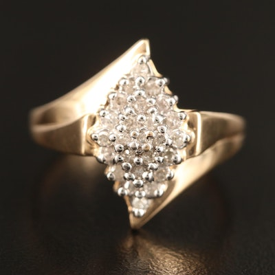 10K Diamond Cluster Ring