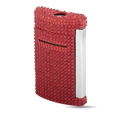 "S.T. Dupont ""Minijet"" Red Swarowski Lighter with Box"