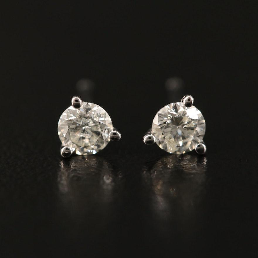 14K Martini Set 0.33 CTW Diamond Stud Earrings