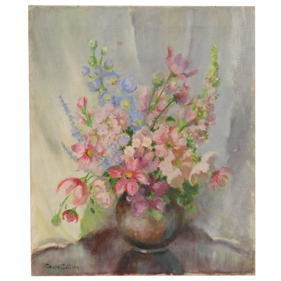 Grace Collier Floral Still Life Oil Painting, 20th Century