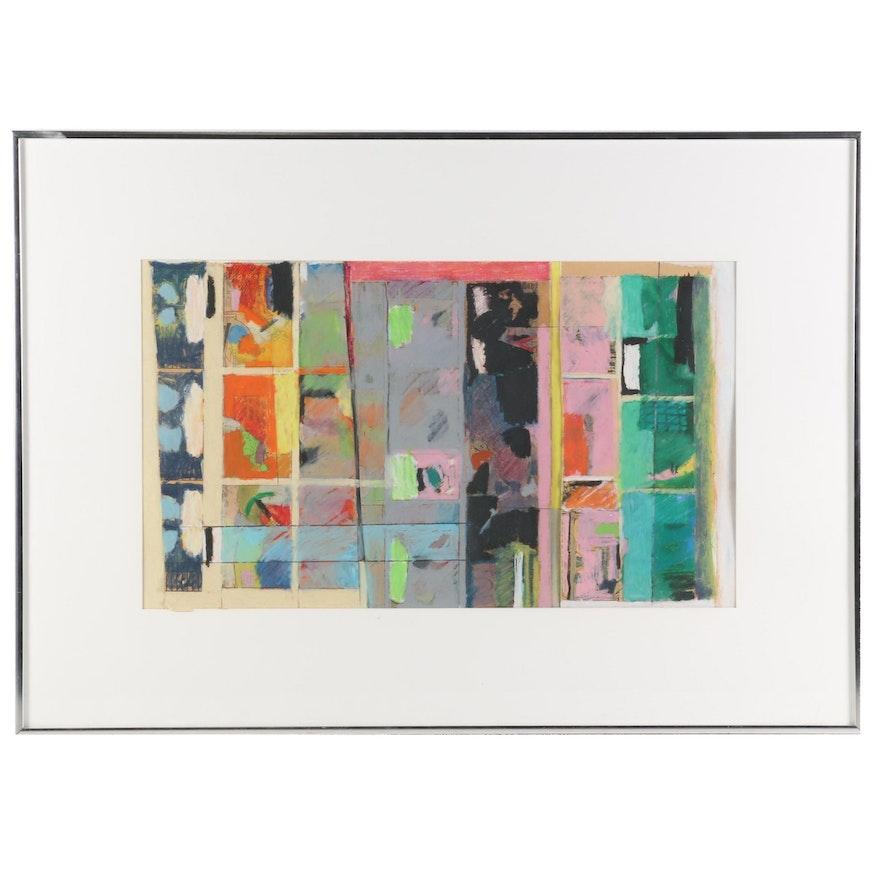 "Tim Rietenbach Mixed Media Pastel Drawing ""Untitled"""