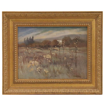 Adele Watson Landscape Oil Painting of Meadow