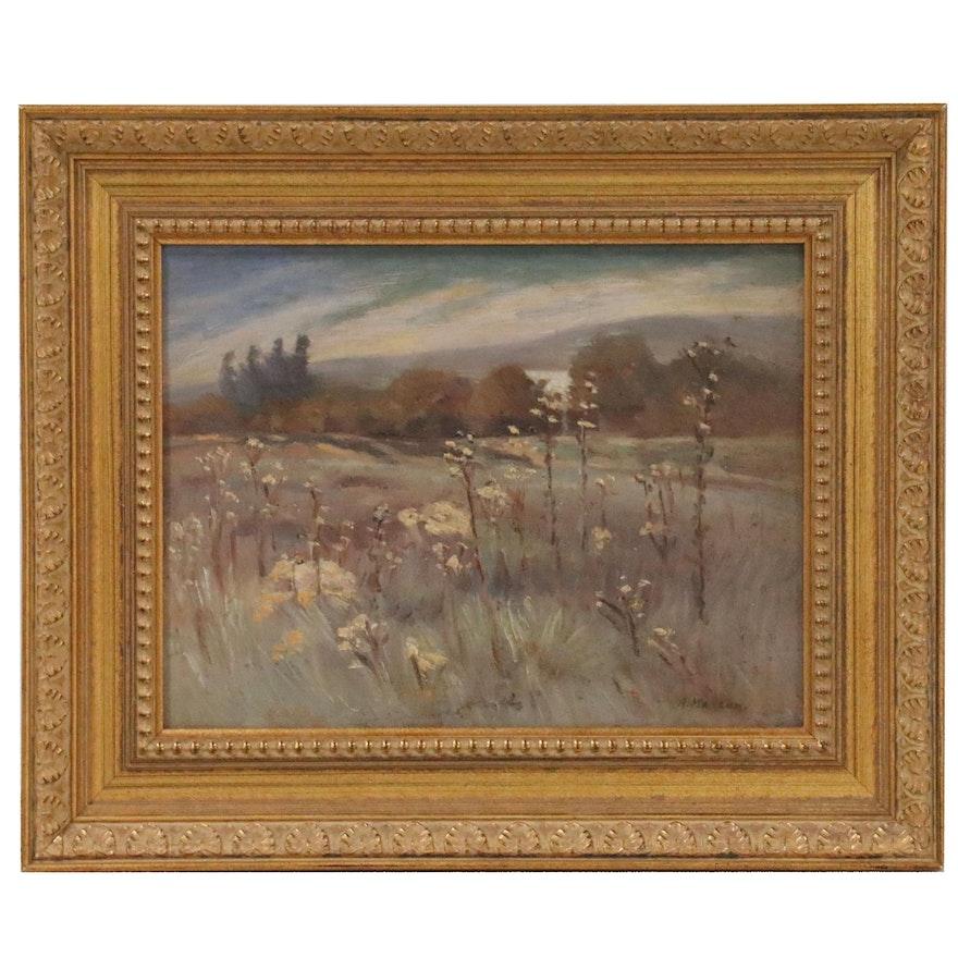 Adele Watson Landscape Oil Painting of Meadow