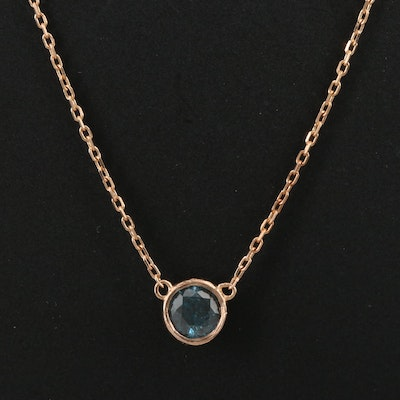 18K Diamond Pendant Chain Necklace