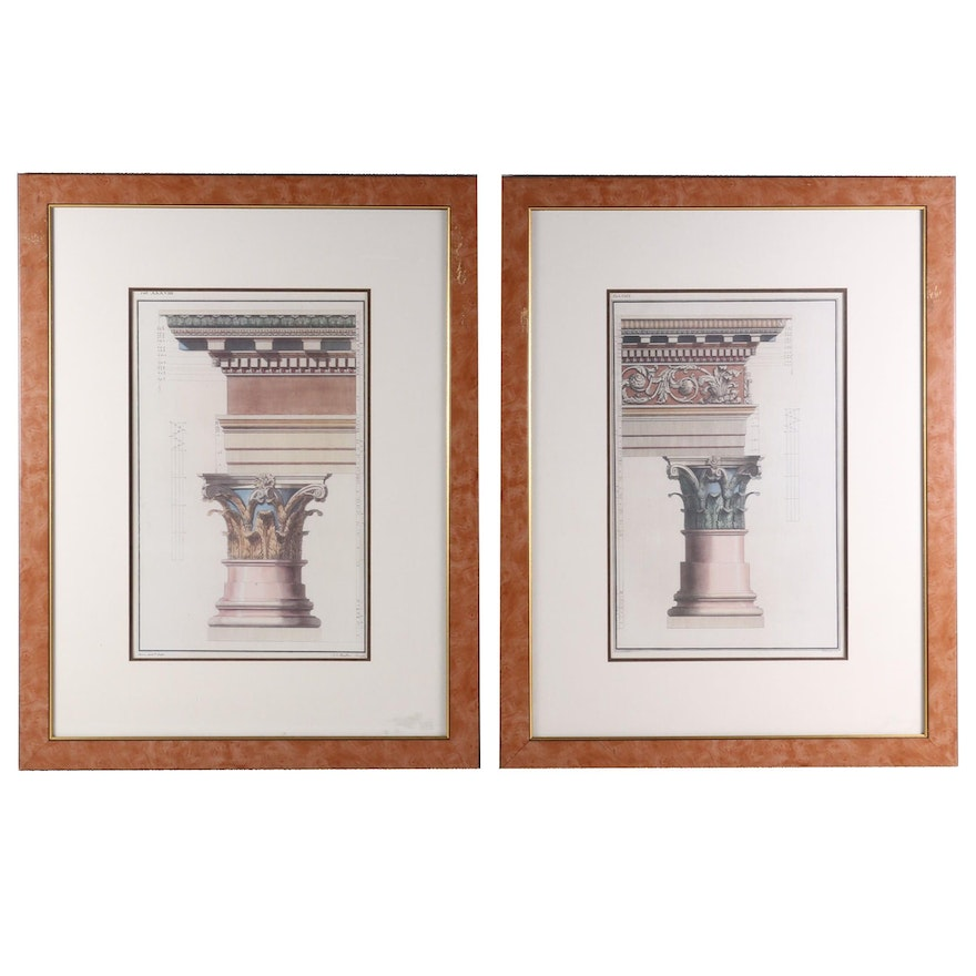 Offset Lithographs of Neoclassical Etchings
