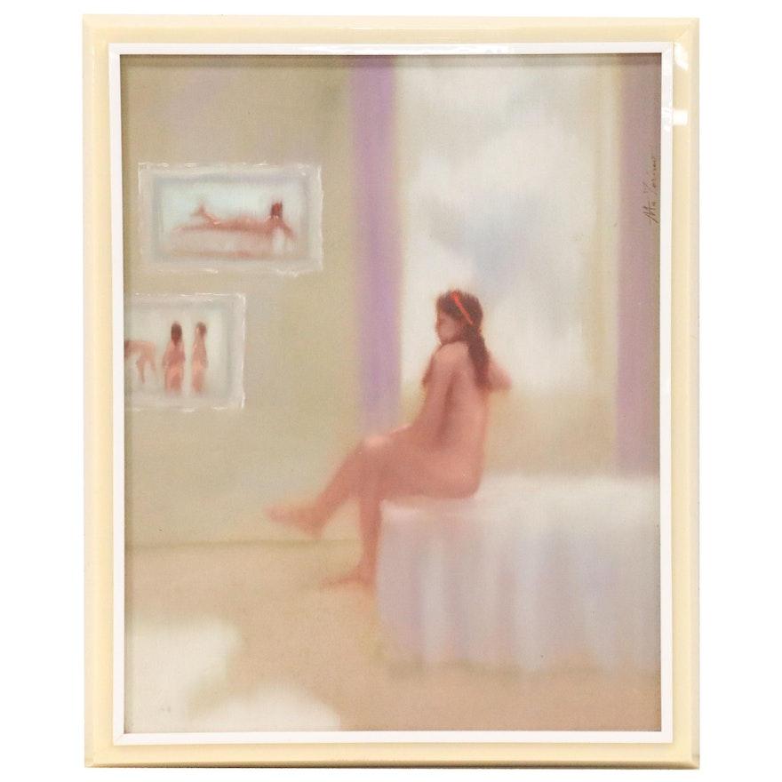 "Anthony Michael Autorino Figure Oil Painting ""Nude"""