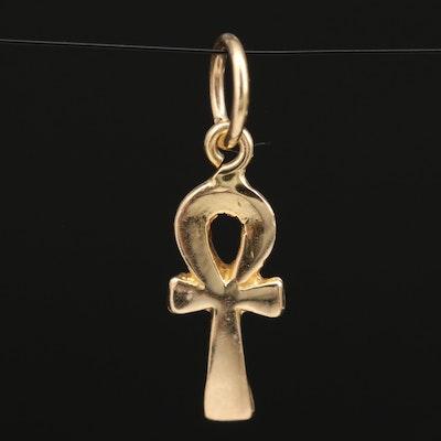 Egyptian 18K Ankh Pendant