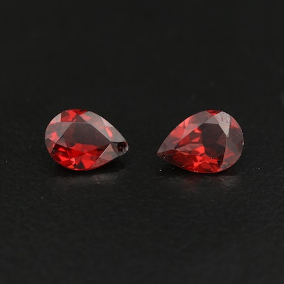 Loose 1.50 CTW Pear Faceted Garnets