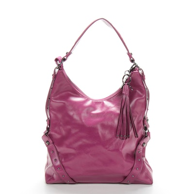 Botkier for Target Hobo Shoulder Bag in Purple Faux Leather