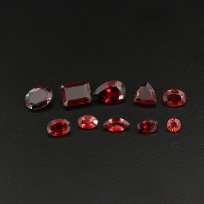 Loose 12.08 CTW Mixed Faceted Garnets