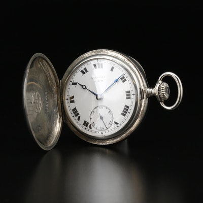 Longines 3 Star Hunting Case Pocket Watch