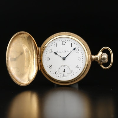 1905 Hampden Watch Co. Gold Filled Hunting Case Pocket Watch