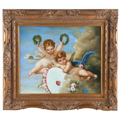 """Copy Oil Painting after Francois Boucher """"La Cible d'Amour"""""""