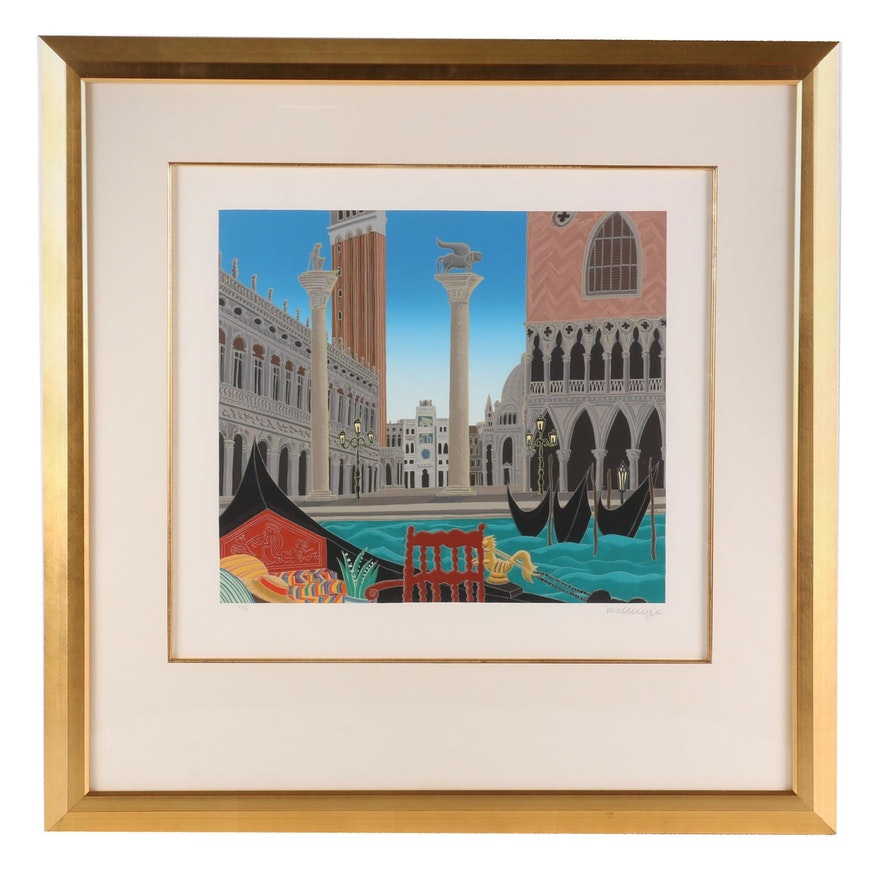 "Thomas McKnight Serigraph ""Piazzo San Marco"""