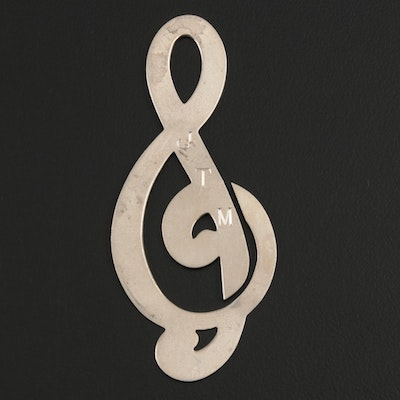 Tiffany & Co. Sterling Silver Treble Clef Bookmark