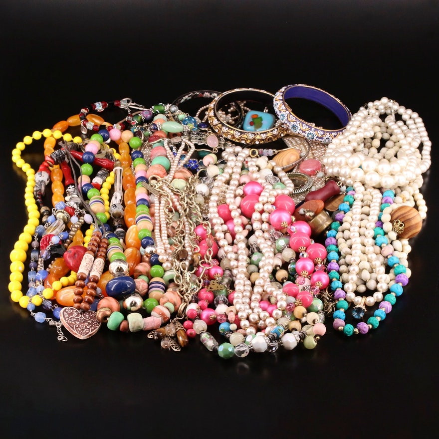 Assorted Jewelry Featuring Sigrid Olsen Drop Necklace and Gemstones and More