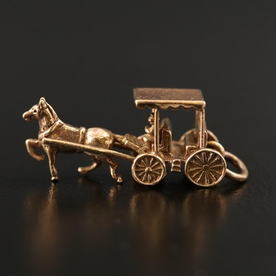 9K Carriage with Driver Charm
